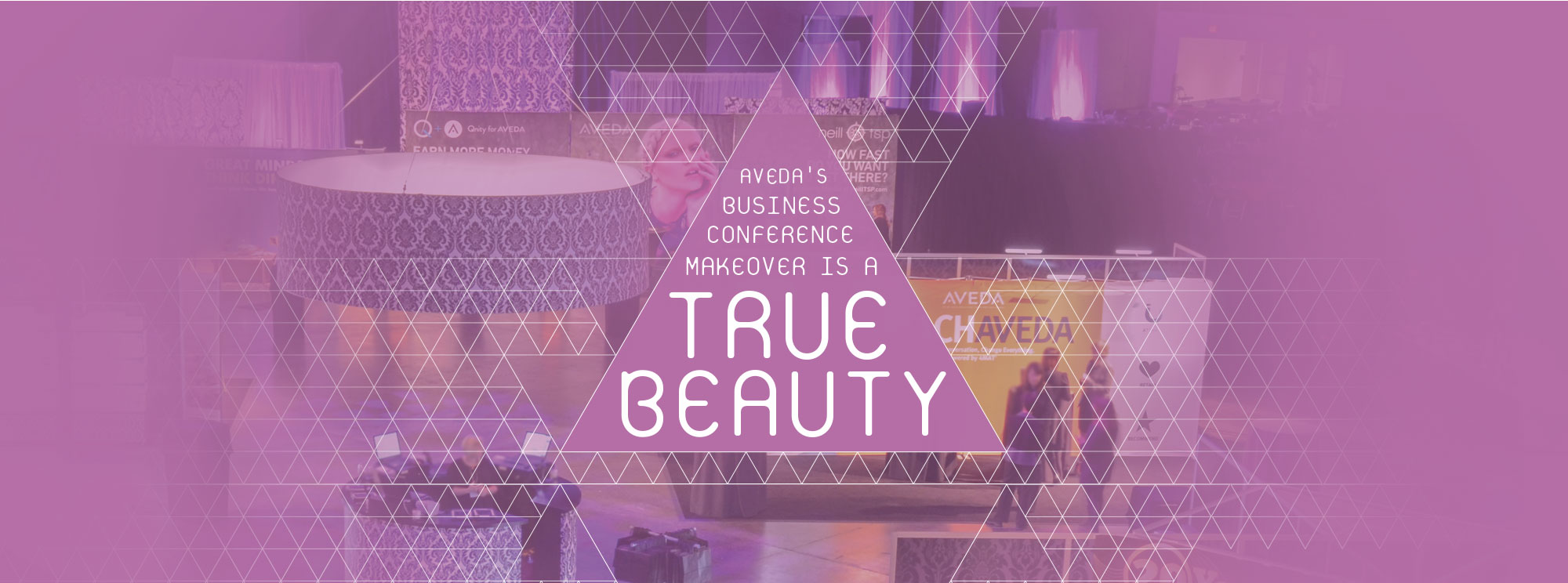 Aveda's business conference makeover is a true beauty.